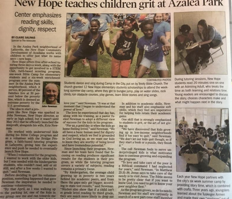New Hope teaches children grit at Azalea Park